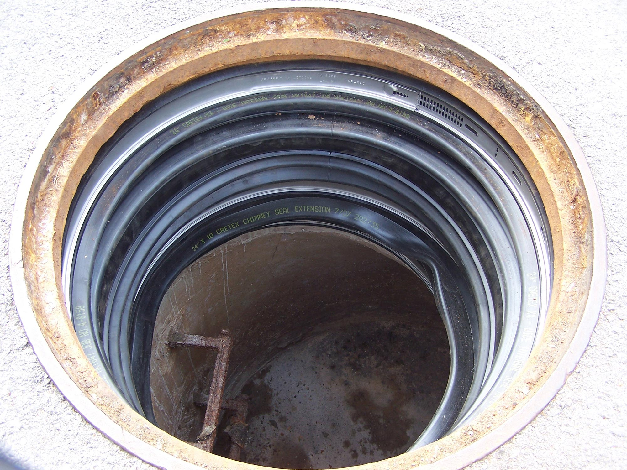 internal chimney seal cretex specialty products