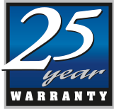 Warranty 25 Years Blue