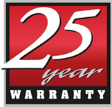Warranty 25 Years Red