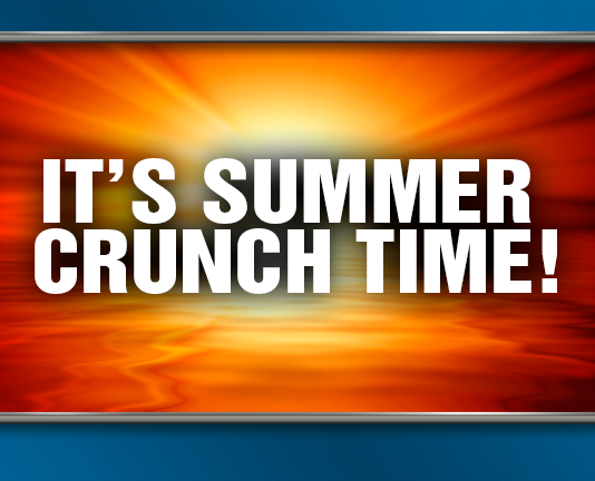 It's Summer Crunch Time! Summer background